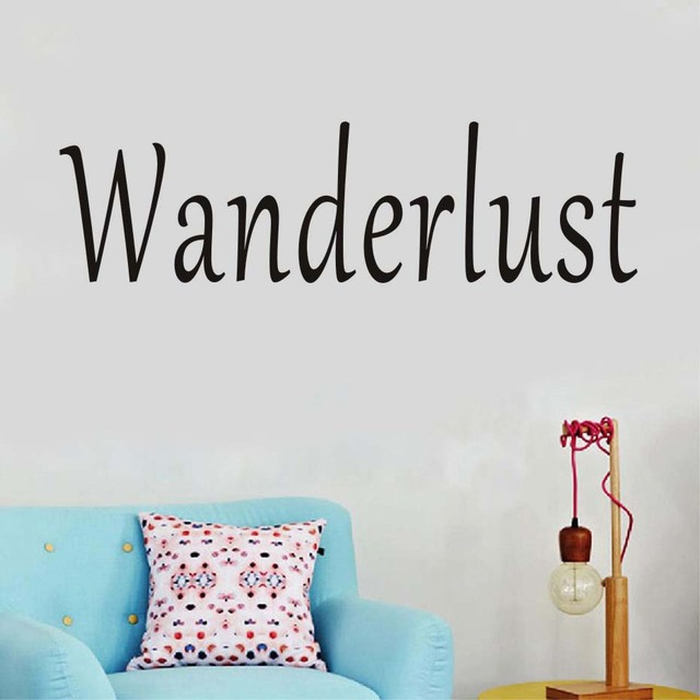 Wanderlust Letters Wall Stickers Diy Removable Vinyl Self Adhesive  Wallpaper Wall Decals Home Decoration Accessories
