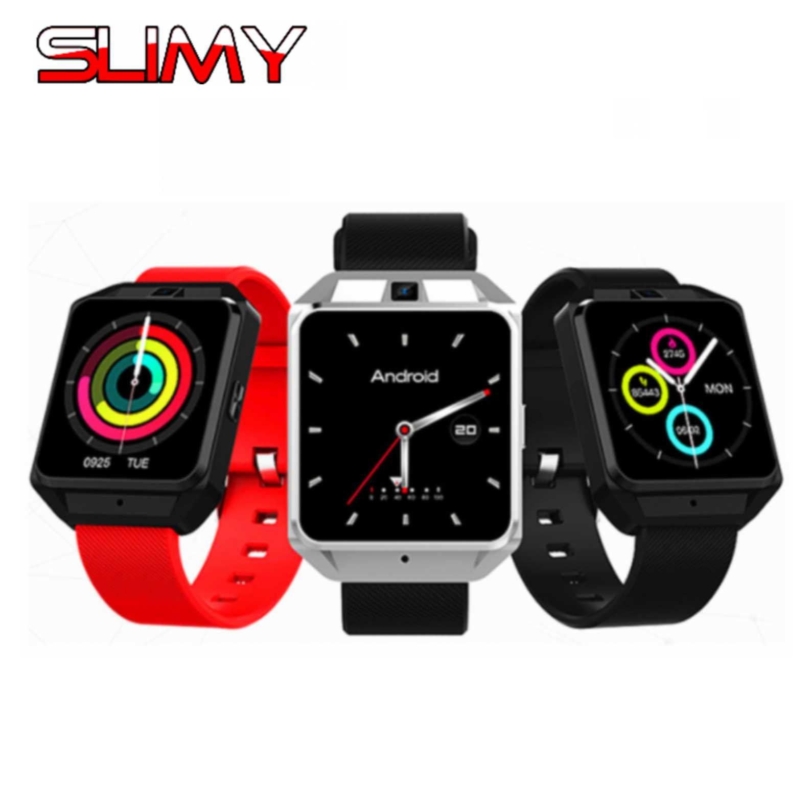 Slimy 4G Smart Watch M5 Android 6.0 MTK6737 1G+8G Smartwatch Support WIFI Nano SIM with Heart Rate Monitor PK M9 Q1 Pro 4G Watch 4g gps android 6 0 smart watch m5 mtk6737 heart rate monitor support sim card camera business smartwatch for men women 2018 gift