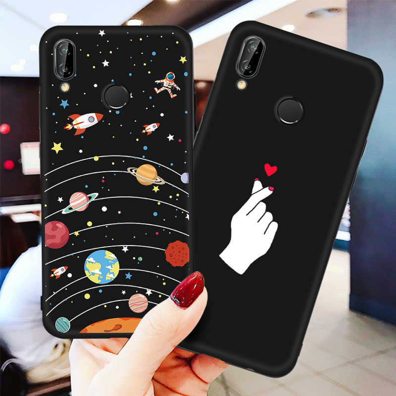 Soft TPU Case For Huawei Y9 2019 Y6 Y5 Y7 Prime Nova 3 3i 3e P Smart Plus Starry Sky Pattern Shell For Huawei Nova 3 3i 3e Cases