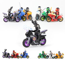 258A Hot Ninja Motorcycle Building Blocks Bricks font b toys b font Compatible legoINGly Ninjagoed Ninja