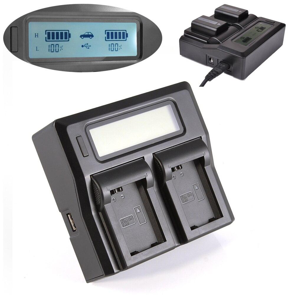 LCD Écran Double Batterie Chargeur AC Cordon D'alimentation Pour Sony NP-FW50 A6000 A7 A7R A7S II NEX
