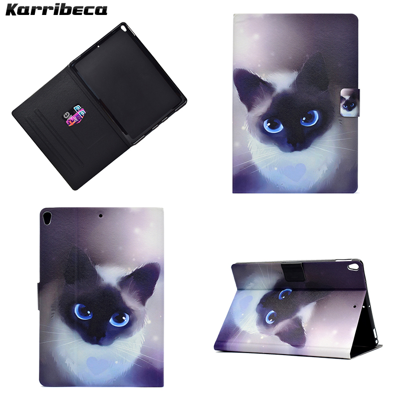 Cute dog cat bunny magnet PU tablet case for iPad pro 10.5 cover leather hoesje coque kryt etui funda puzdra kilifi husa carcasa