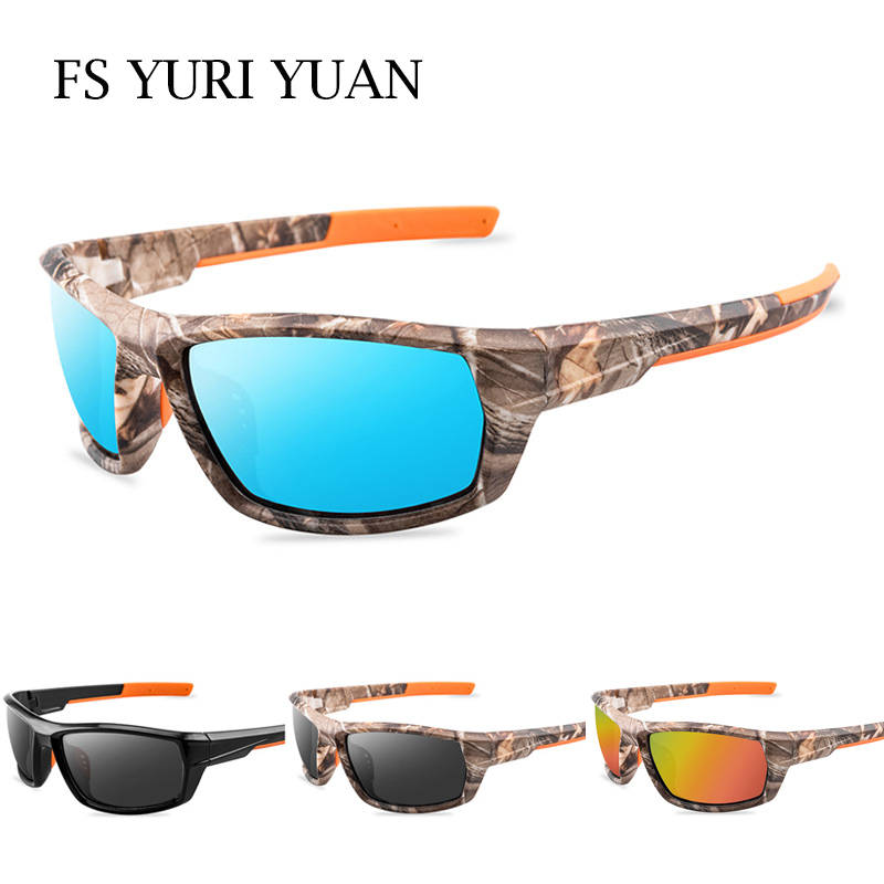 Men Polarized Fishing Sunglasses Camouflage Frame Outdoor Sport Cycling Glasses Male Camping Hiking Fisherman Eyewear UV400