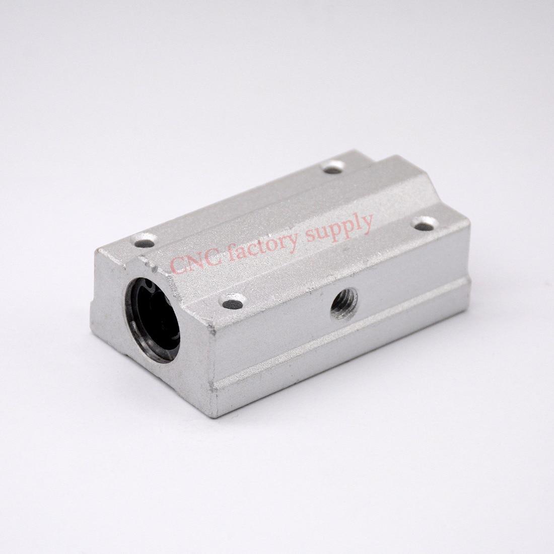 Hot sale 1pc  SC8LUU SCS8LUU 8mm long type Linear Ball Bearing Block CNC Router hot sale prdl18 7dn lengthen type