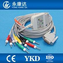Nihon Kohden 10 lead EKG cable, compatible with Cardiofac 6353 ekg machine,IEC,Din 3.0 Ending