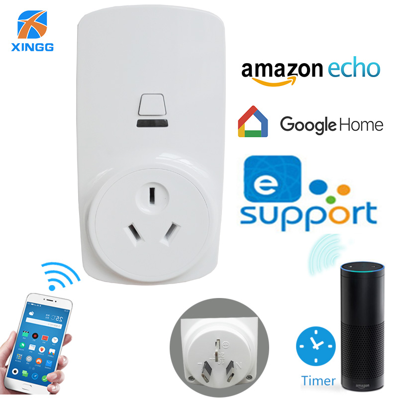 XINGG AU Standard Smart Wifi Plug Socket APP Remote Control Electric Power Outlet For Google Home Automation Alexa все цены