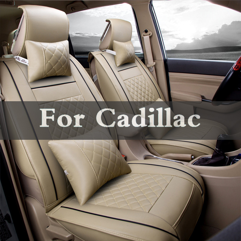 Pu Leather Car Seats Automobiles Seat Base Covers Cushion Accessories For Cadillac Ats-V ...