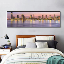 Home Office Decor Bedroom Wall Art World Famous City View Photo Prints Metropolis Canvas Printed Painting Large Artwork No Frame