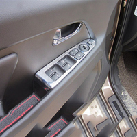For Kia Sportage 2010 2015 ABS Chrome Lower Configuration Internal Door Window Switch Panel Cover Only