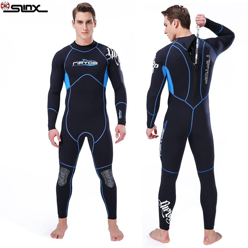 SLINX 3mm hommes néoprène plongée sous-marine costume corps complet surf vêtements ensemble manches longues canotage plongée en apnée pêche combinaison maillots de bain