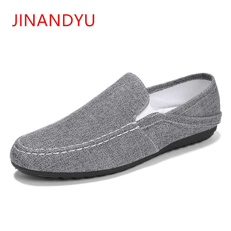 Men Canvas Shoes Summer Breathable Fashion Casual Flat Loafers Driving Lazy Comfortable Espadrille Fisherman Linen Shoes Ifrich