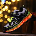 New Explosion models Children shoes LED light USB Luminous casual shoes Boys Sneakers light shoes Kids outdoor night shining