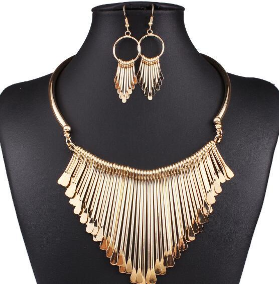 Jewelry Sets Punk Necklace...