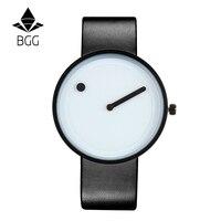 2017 Minimalist Style Creative Wristwatches BGG Black White New Design Dot And Line Simple Stylish Quartz