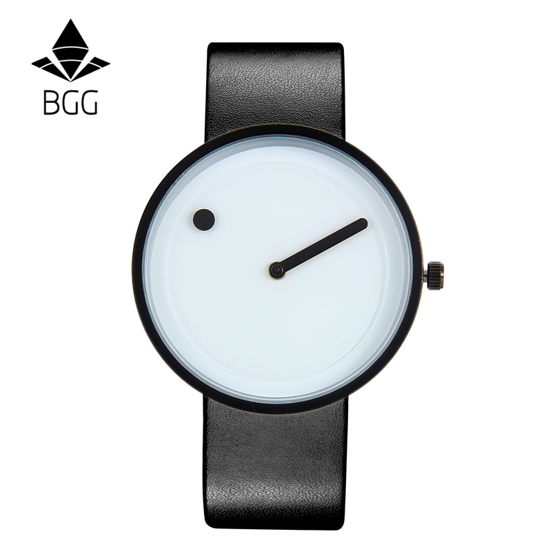 2019 Minimalist style creative wristwatches BGG black & white new design Dot and Line simple stylish quartz fashion watches gift 1