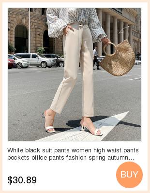 19 Autumn New Women Elastic Woolen Pant Female Plus Size Casual Trousers Black/Gray Harem Pants Winter Wool Ankle-Length Pants 7