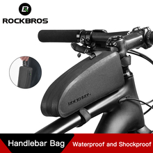 ROCKBROS велосипедные сумки на багажник рамка Передняя Труба водонепроницаемая сумка Велоспорт MTB дорожный хранения противоударные аксессуары для велосипедов; руль сумка
