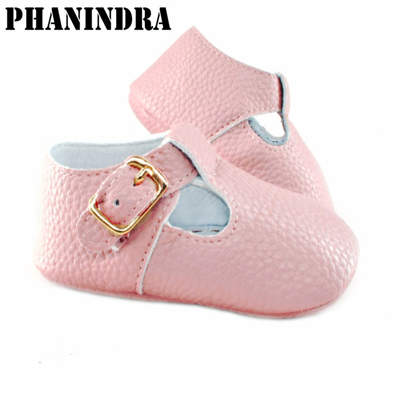 Baby Girl Shoes cream Soft sole baby Shoes gold buckle new style Prewalker Walking Toddler boys Shoes black