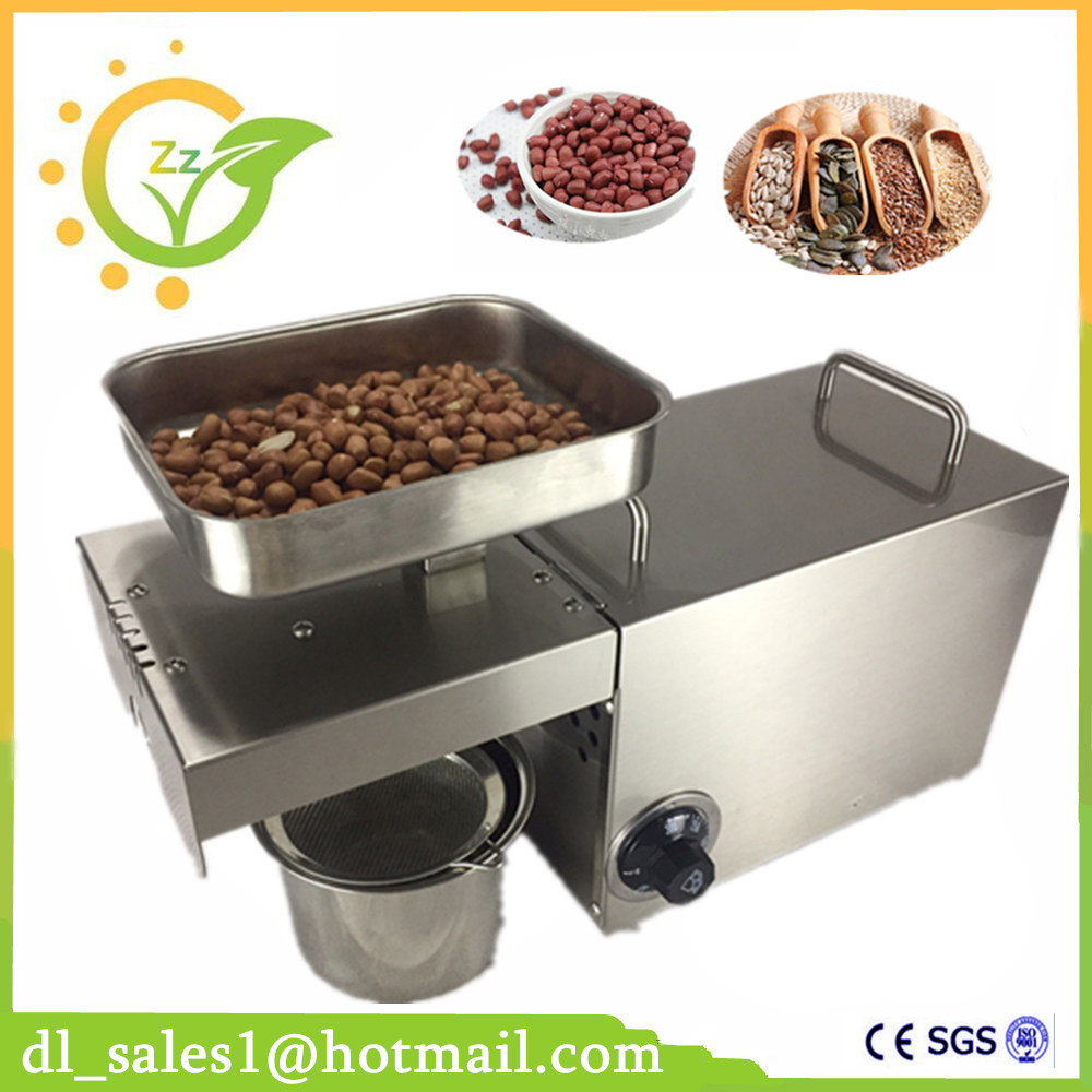 New Full-Automatic Stainless Steel Small Home Oil Press Machine Cold Screw Press For Peanut Coconut Cocoa Bean brand new 220v heat and cold home oil press machine peanut cocoa soy bean oil press machine high oil extraction rate page 8