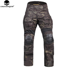 Airsoft Combat Pants With Knee Pads Dark Grey
