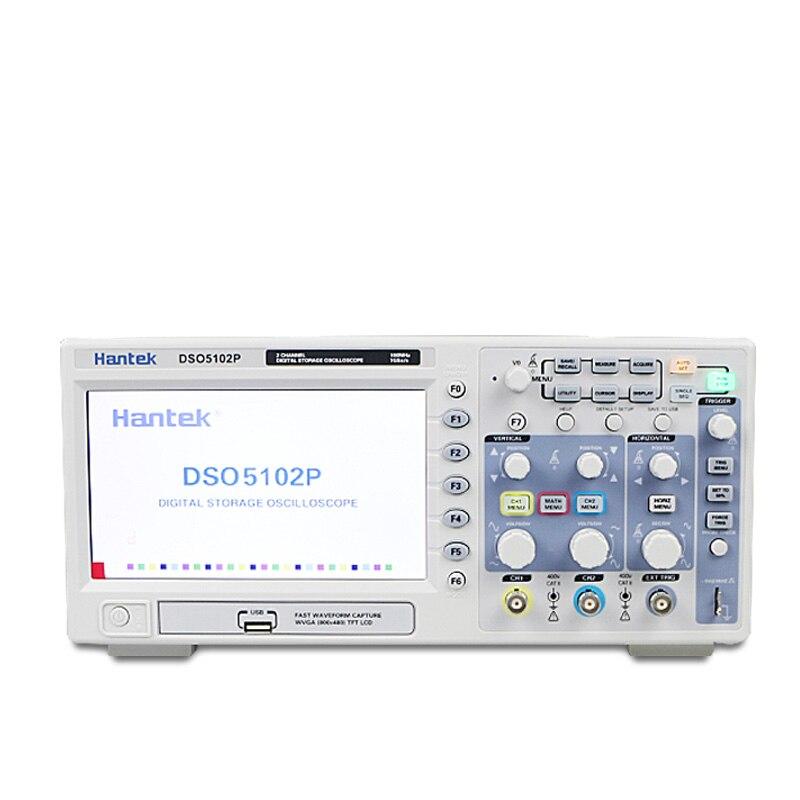 Spedizione gratuita Hantek DSO5102P Digital storage oscilloscope 100 MHz 2 Canali 1GSa/s 7 ''TFT LCD