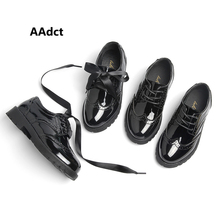 AAdct Party kids shoes school children shoes Wedding Girls Shoes autumn Patent Leather shoes ribbon