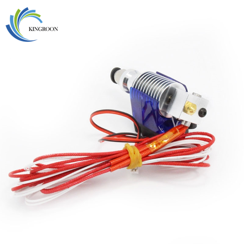 3D Printer J-head Hotend  V5 with Single Cooling Fan for 1.75mm/3.0mm Direct Filament Wade Extruder 0.2mm/0.3mm/0.4mm Nozzle