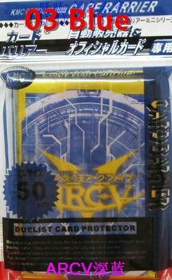 KMC 50 PCS YuGiOh ARC-V kart kolları Board oyunlar kart qoruyucusu - Oyuncaq fiqurlar