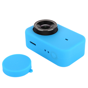 Image 3 - LANBEIKA For Xiaomi Mijia 4K Accessories Silicone Protection Case + Lens Cover Mount Kit Skin for Xiaomi Mijia 4K Action Cam