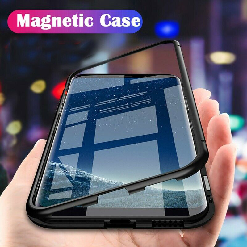 Magnetic Adsorption Metal Case For Samsung Galaxy S8 S9 S10 Plus S10E S7 Edge Note 8 9 5G Version Phone Protective Cover Coque