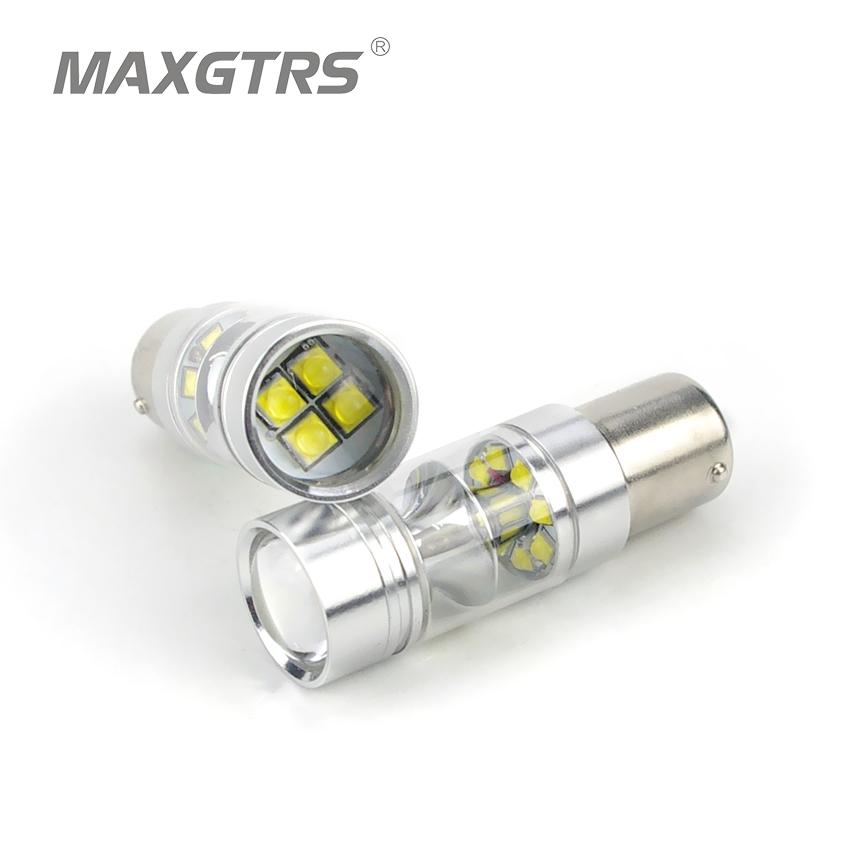 Prix pour Nouvelle Haute Luminosité S25 BA15S 1156 100 W CREE Puce XBD LED Feux de recul Brouillard Lampe P21W DRL Feux Diurnes Sauvegarde Unique lumières