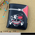 Hot Sale Tokyo Ghouls Ken Kaneki Japan Anime Cosplay PU Coin Purse Men Women Short Wallet with Coin Pocket Notecase Billfold