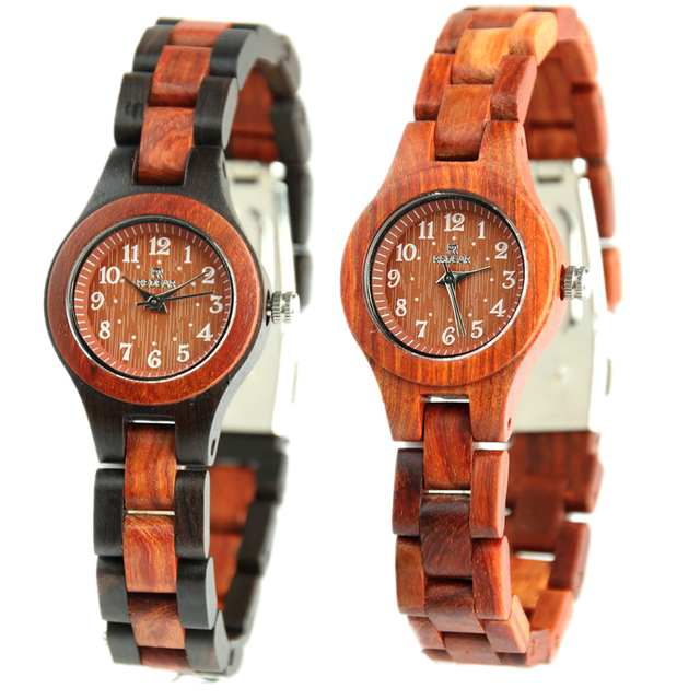 Redear 2017 Top Brand Luxury Women Watch Zebra Wood Bamboo Casual Quartz Watches