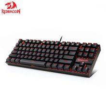 لوحة مفاتيح ألعاب ميكانيكية Redragon K552 KUMARA 87 مفتاح لوحة مفاتيح Gamer بإضاءة خلفية حمراء