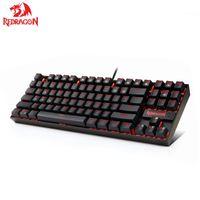 Redragon K552 KUMARA Mechanical Gaming Keyboard 87 Keys Red Backlit Gamer Keyboard