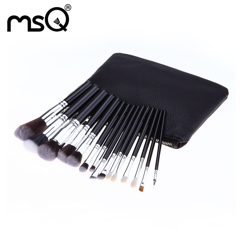 Makeup Brushes Set A Set Of Brushes Synthetic Hair Brush For Make Up Professional 15 PCs Brush Kit With Cosmetic Bag Makeup Kits 14pcs the key with combination ratchet wrench auto repair set of hand tool kit spanners a set of keys herramientas de mano