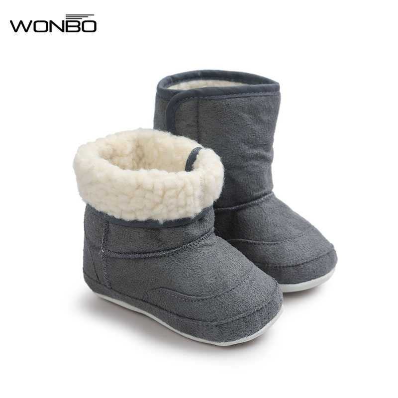 Wonbo 7Colors New Newborn Baby Infant Toddler Prewalkers Soft Rubber Soled Shoes Boots Children Boy Girls Booties Booty