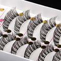 Natural Alongado Grosso Winged Entrecruzamento Cílios Postiços 10 Pairs Artesanal Pure Cotton Stalk Falso Cílios Maquiagem Cílios