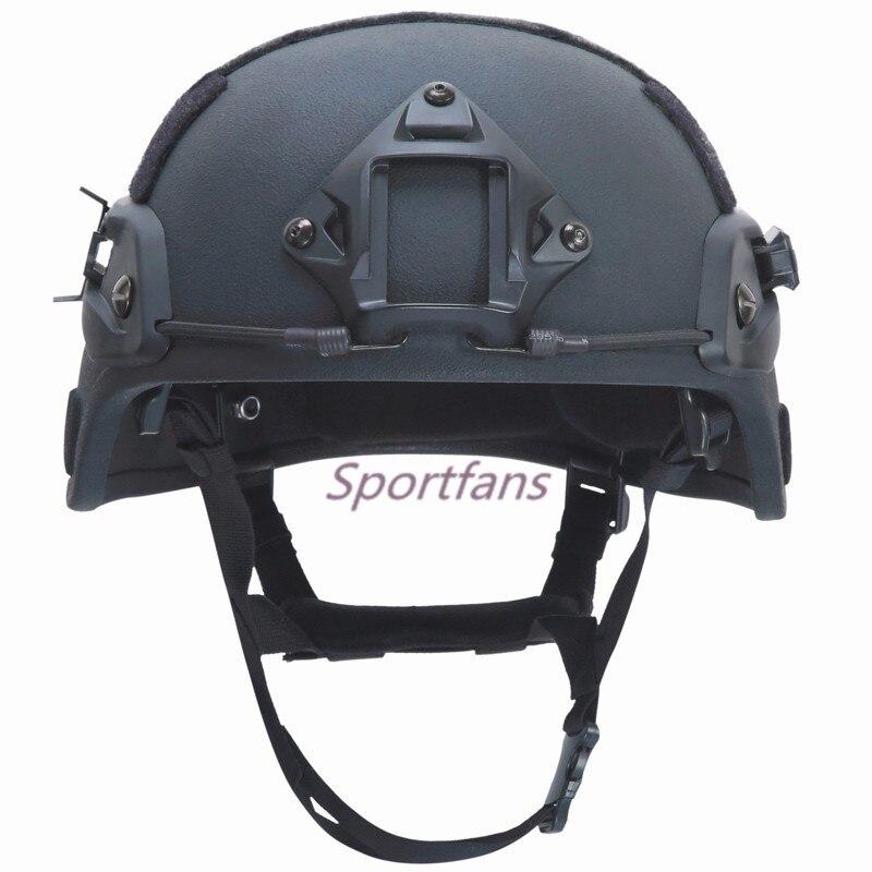 Mich 2000 nij iiia Тактические Пуленепробиваемый Шлем Кевлар Баллистических шлем для защиты головы Охота страйкбольных игры