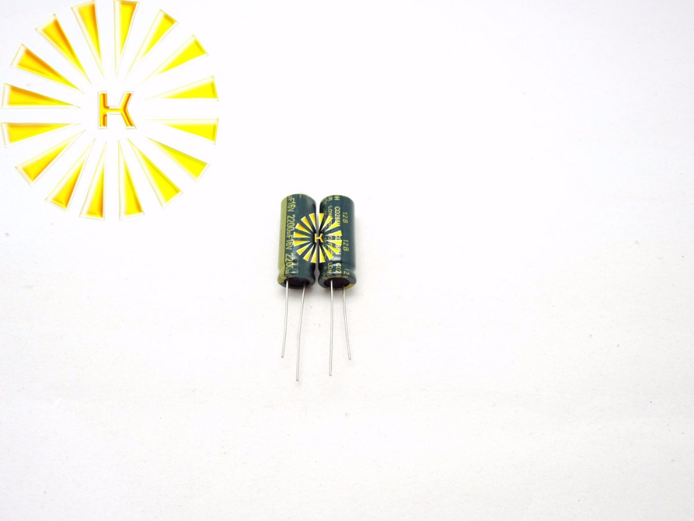 5PCS Electrolytic Capacitors 16V 2200uF Volume 10x20mm NEW