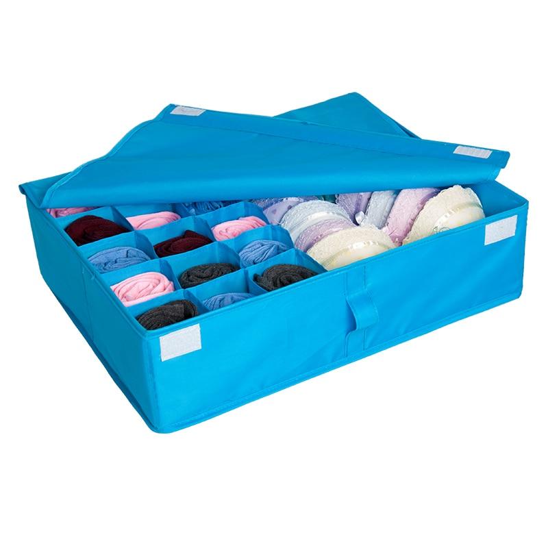 Hyvä materiaali Polyesteri Värikäs pestävä taitettava alusvaatteet säilytyslaatikko järjestää sukkia rintaliivit kohtuulliseen hintaan Täydellinen kokemus