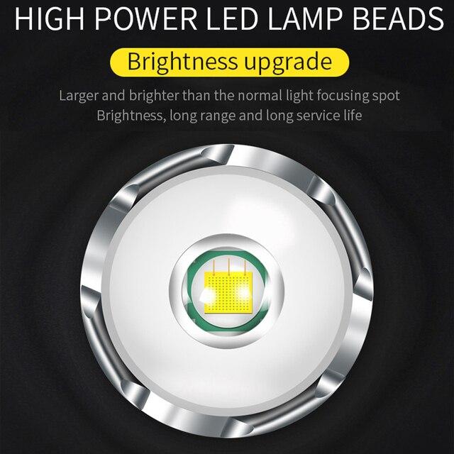 Lampe frontale Led lampe frontale phare lanterne sur la tête torche lampe à Led lampe Flash lampe frontale USB phares de charge
