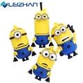 LEIZHAN USB Flash Drive Minions USB Flash Drive 4GB 8GB 16GB 32GB Cartoon Pendrive USB 2.0 Pen Drive Storage Memory Stick U Disk