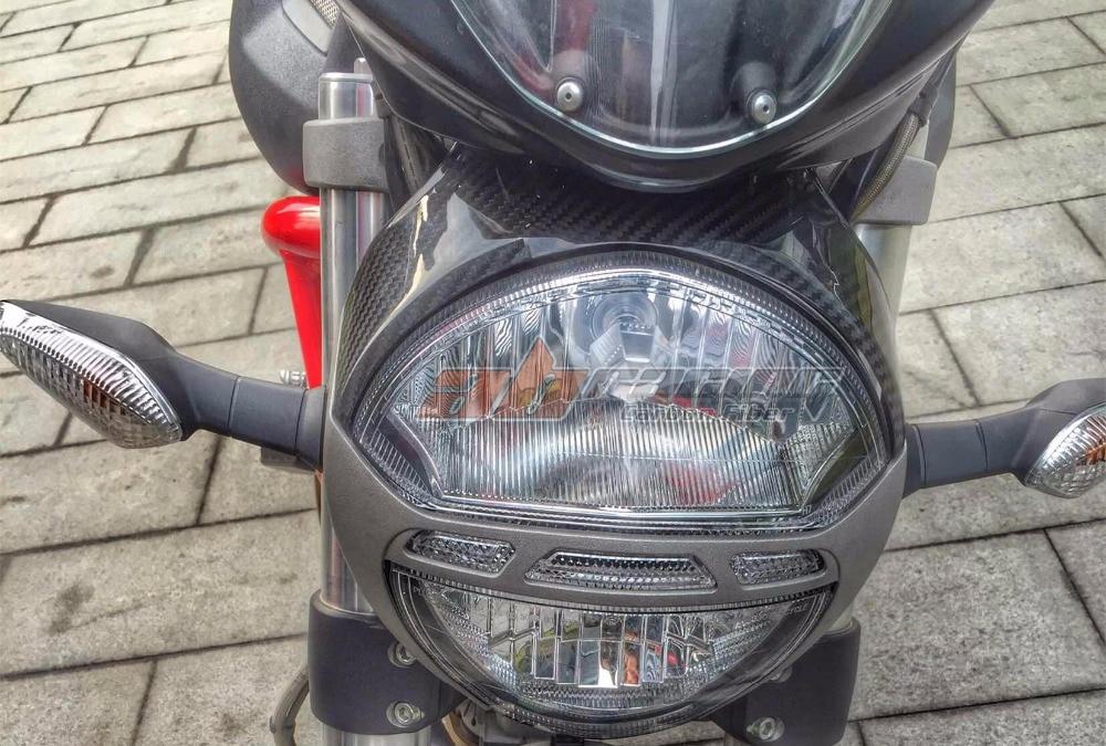 Headlight Cover For Ducati Monster 696 795 796  Full Carbon Fiber 100% Twill