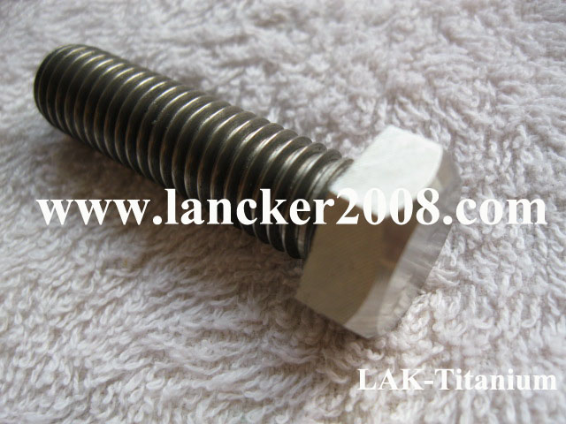 M10x20 25 30 35 40 45 50 60 70 80 90 100 110 120 Gr2 <font><b>Titanium</b></font> hexagon head <font><b>screw</b></font>/bolt for Industry image
