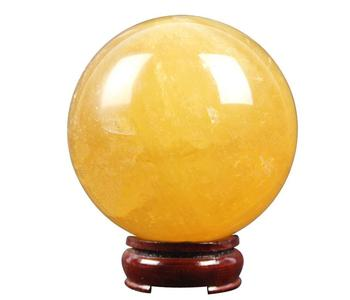 110mm size drop shipping Natural orange calcite Crystal gemstone ball meditation reiki healing chakra crystal sphere decoration