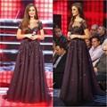 Vestidos noche largos Vestido де феста элегантный линия с коротким рукавом бисером элегантный шифон вечерние платья вечерние платья