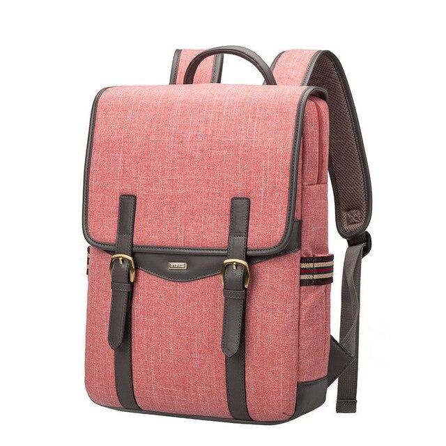 Theaftproof Waterproof Backpack Women Preppy Style Belt Buckle Fashion Laptop Schoolbag Men Business Casual Designer Daypack