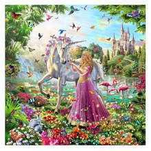 Princess Unicorn Hand Made Paint High Quality Canvas Beautiful Painting By Numbers Surprise Gift Great Accomplishment