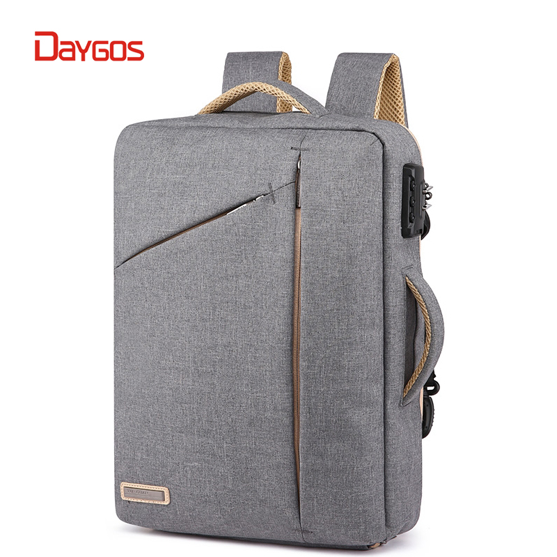 DAYGOS Men Anti Theft Password Lock Backpack Business School Back Pack Laptop Backpacks Waterproof Bags Boy Travel Bagpack Male multifunction men women backpacks usb charging male casual bags travel teenagers student back to school bags laptop back pack